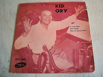 "kid ory 1960's original vogue good time jazz label   issue 7"" vinyl 3 track ep"
