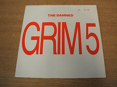 "the damned anything 1986 uk issue LTD NUMBERED  7"" vinyl single grim 5  gothic"