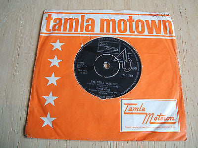 "dianna ross   i'm still waiting   1970 uk motown  label  7"" vinyl 45 tmg 781"