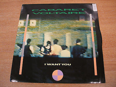 "cabaret voltaire    i want you  1985 uk issue  12"" vinyl single   experimental"