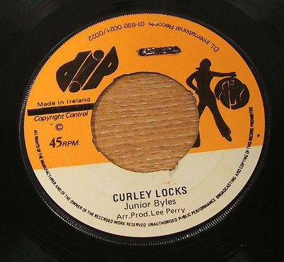 "junior byles curley locks 1974 irish press dip  label  7"" vinyl 45  rare reggae"