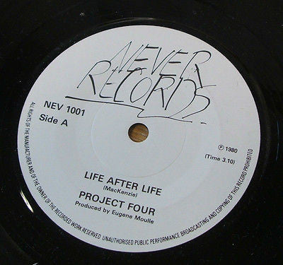 "project four life after life 1980 uk never label 7"" minimal synth experimental"