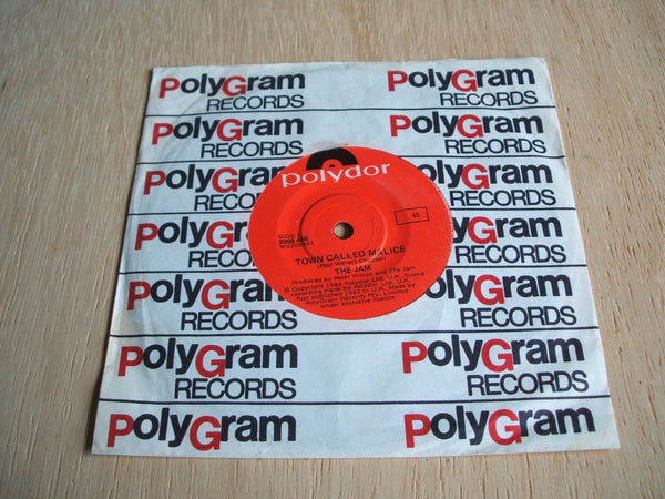 "the jam town called malice  original australian press vinyl 7"" single weller mod"