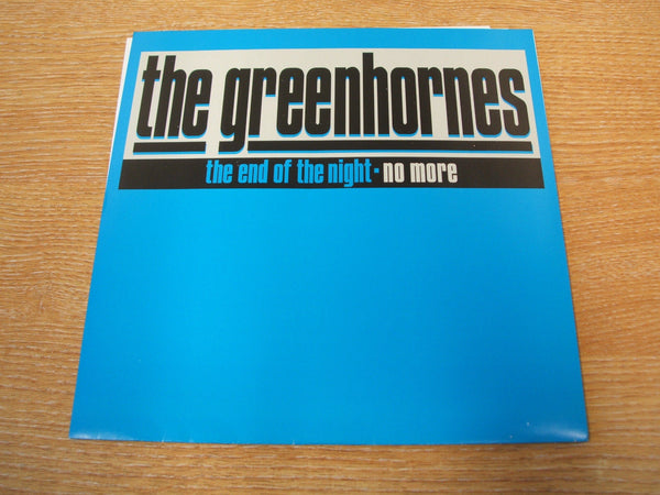 "the greenhornes the end of the night  vinyl 7"" 1998 usa garage rock punk mint-"