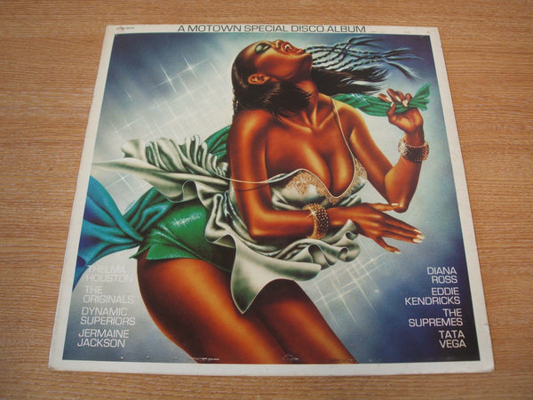 motown special disco album  uk motown promo white label  vinyl lp  mint -