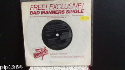 bad manners runaway flexi disc record mirror freebie ex