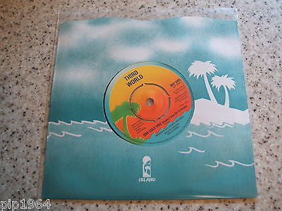 "third world   one cold vibe   1978  uk island vinyl 7""  wip 6485  ex"