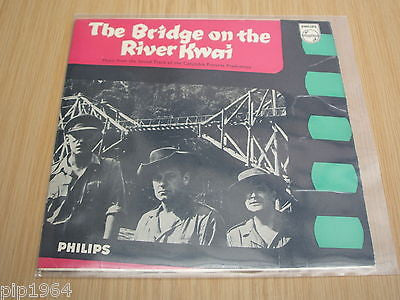 "the bridge over the river kwai 1957 uk philips 7"" ep malcolm arnold score vg+"