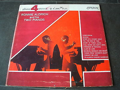 two pianos  ronnie aldrich 1960's south american pressed vinyl lp