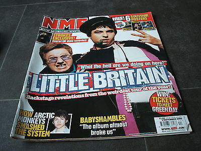 new musical express nme 5th november   2005 little britain babyshambles strokes