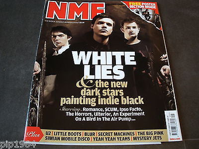 new musical express  nme  28 feb  2009   front cover  white lies + free posters