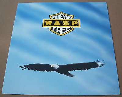 wasp  forever free 1989 uk capitol label vinyl 12 inch single near mint