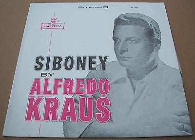 Alfredo kraus. Siboney. south american / colombian montilla label pressing