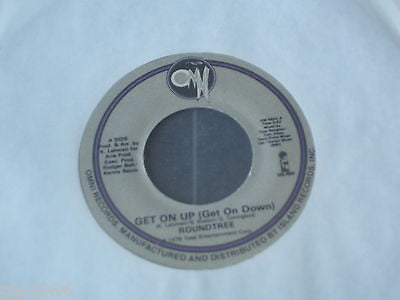 "roundtree  get on up get on down  1978 usa omni label 7"" single  om 5502 ex"
