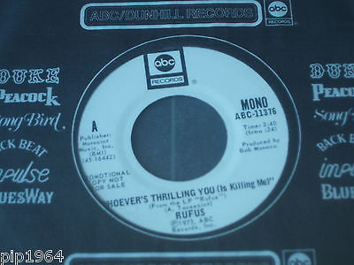 "rufus whoevers thrilling you 1973 usa abc label promo issue  7"" single excellent"
