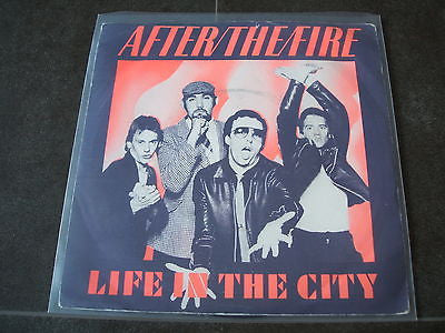 "after the fire life in the city 1979  uk vinyl 7"" single excellent"