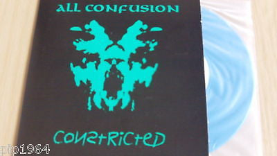 "constricted  all confusion + 2  blue vinyl  7""  nr mint"