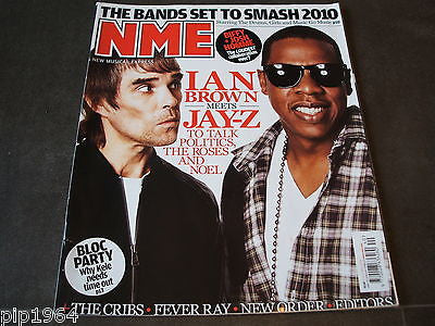 new musical express  nme  03 oct  2009   front cover  ian brown jay-z