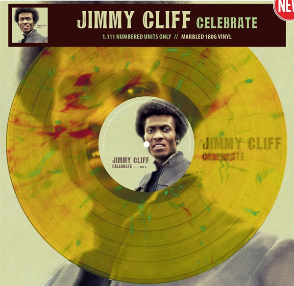CELEBRATE by JIMMY CLIFF Vinyl LP 3594 LTD COLOUR VINYL