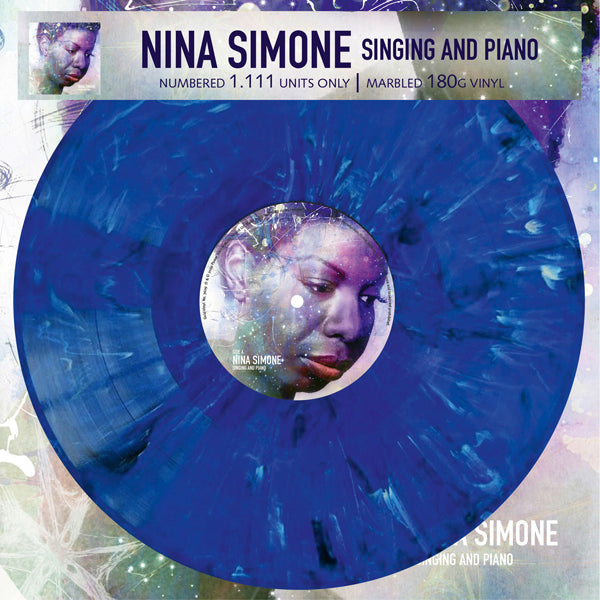 SINGING AND PIANO (MARBLED VINYL) by NINA SIMONE Vinyl LP
