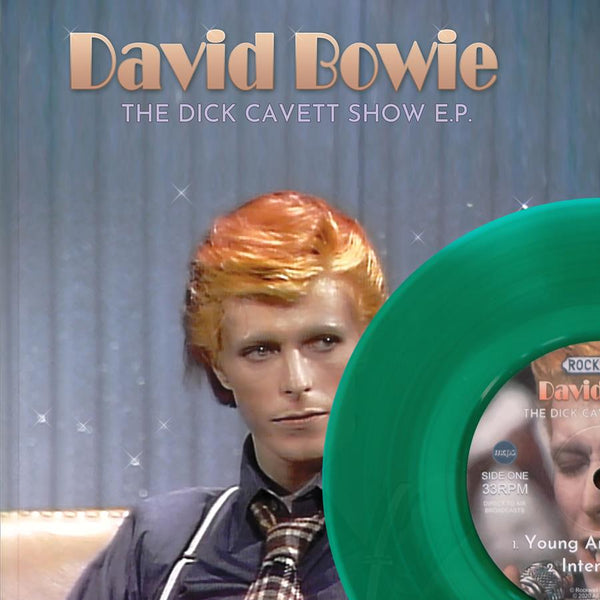 "DAVID BOWIE THE DICK CAVETT SHOW EP on 7"" GREEN VINYL Cat: KITTY27EP038-green"
