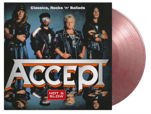 ACCEPT HOT & SLOW - CLASSICS, ROCK 'N' BALLADS 2 x silver red marble vinyl lp MOVLP2452   pre order