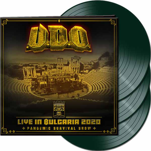 LIVE IN BULGARIA 2020 - PANDEMIC SURVIVAL SHOW (PHD EXCLUSIVE DARK GREEN VINYL) by U.D.O. Vinyl - 3 LP Box Set  AFM78912GB