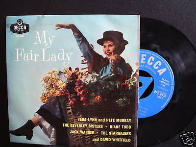 my fair lady 1950's decca tri label 45 various artists