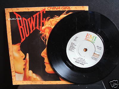 david bowie  china girl  1983 usa emi 45  ea 157 ex