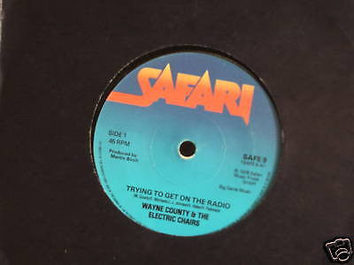 wayne county & the electric chairs 1978 uk punk rock 45