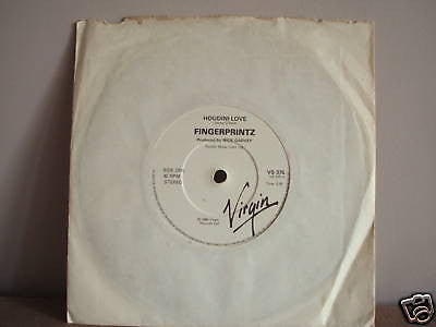 fingerprintz  houdini love  1980 uk virgin newave 45 ex