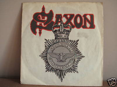 saxon  strong arm of the law  1980 uk carrere vinyl 45