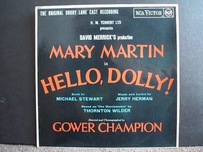hello dolly original uk cast recording lp rca victor