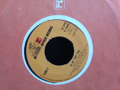 "family  in my own time  1971 uk reprise 7"" ex  k 14090"