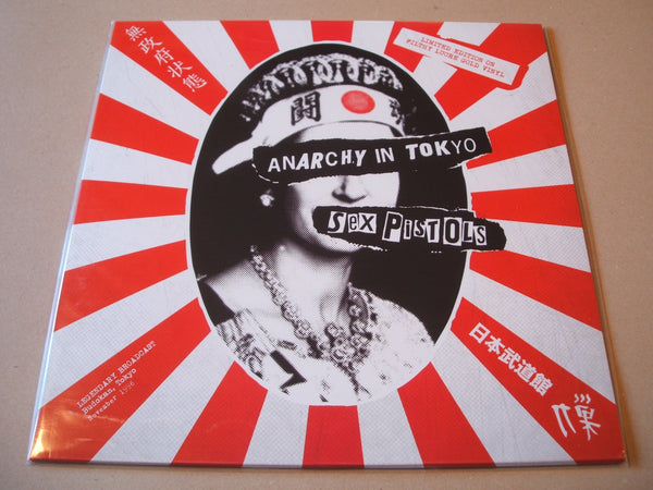 THE SEX PISTOLS ANARCHY LIVE TOKYO - GOLD VINYL LP LTD EDITION RARE PUNK