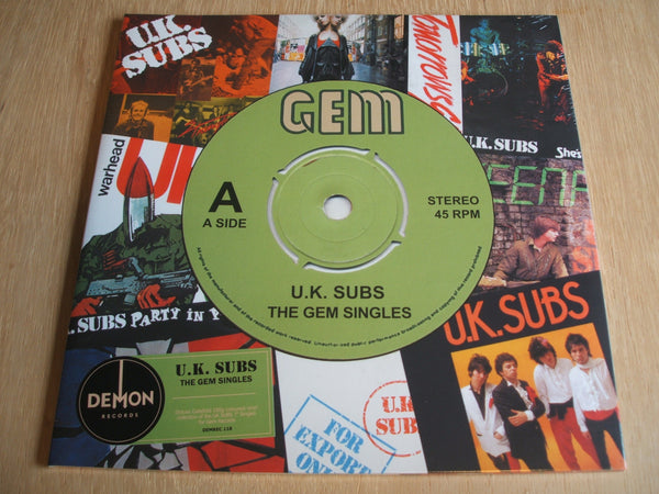 UK Subs ‎– The Gem Singles Vinyl  LP Album Compilation Green Vinyl