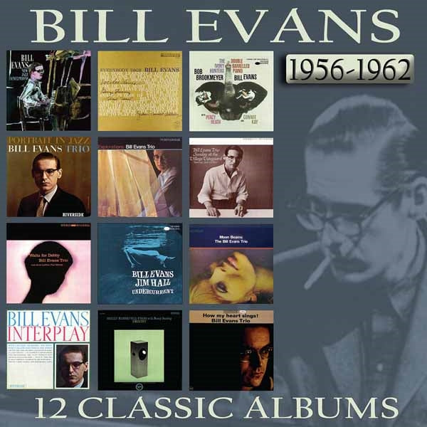 12 CLASSIC ALBUMS: 1956 - 1962 (6CD BOX)  by BILL EVANS  Compact Disc Box Set  EN6CD9025