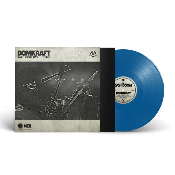 DAY OF DOOM LIVE (OCEAN BLUE VINYL) by DOMKRAFT Vinyl LP MER079LPB1