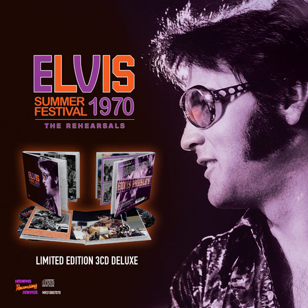 SUMMER FESTIVAL 1970 - THE REHEARSALS (DELUXE 3CD + BOOK) by ELVIS PRESLEY Compact Disc Book  MRS10007070