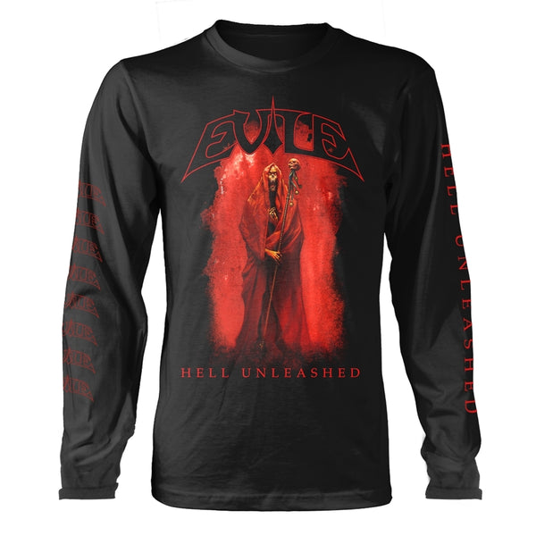 HELL UNLEASHED (BLACK) by EVILE Long Sleeve Shirt