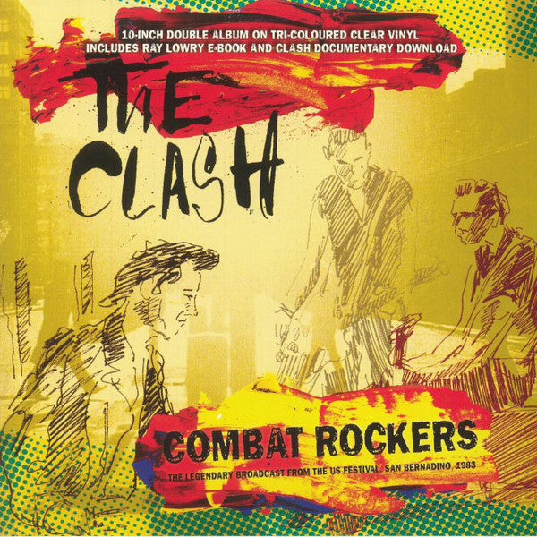 "The Clash ‎– Combat Rockers - The Legendary Broadcast From The US Festival San Bernadino 1983 2 x 10 "" colour vinyl"