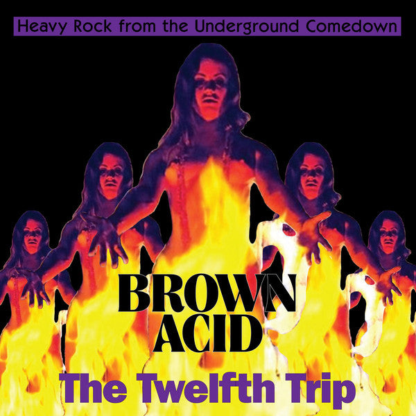 various  Brown Acid The Twelfth Trip (Heavy Rock From The Underground Comedown) vinyl lp orange EZRDR-131