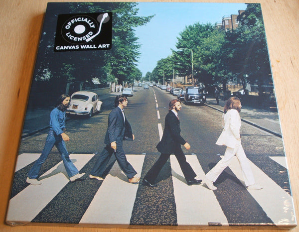 the beatles abbey road stretch canvas wall art 40cm x 40cm official