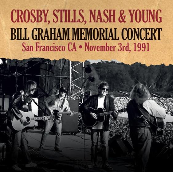 CROSBY STILLS NASH & YOUNG - Bill Graham Memorial Concert San Francisco,Ca 3 Nov 91 vinyl LP
