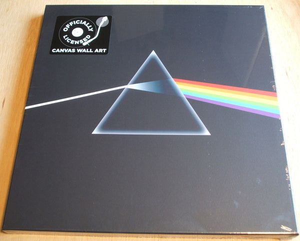 pink floyd dark side of the moon stretch canvas wall art 40cm x 40cm official