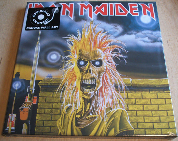 iron maiden 1st lp stretch canvas wall art 40cm x 40cm officially licenced new