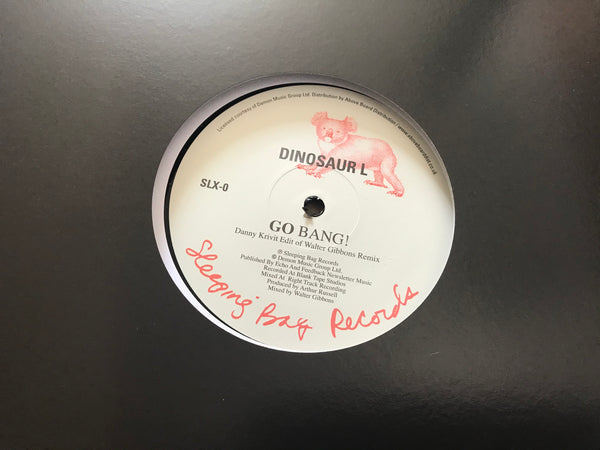 "DINOSAUR L/ HANSON AND DAVIS - GO BANG! (REMIX) / I'LL TAKE YOU ON (REMIX) 12"" VINYL"