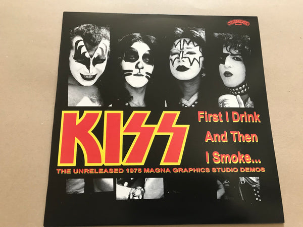 KISS First i drink then i smoke 1975 magna demos coloured vinyl lp ltd