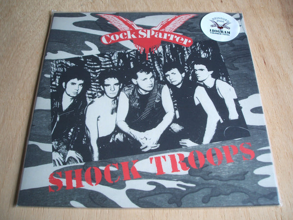 cock sparrer shock troops 2016 re issue pirate press grey vinyl lp mint unplayed