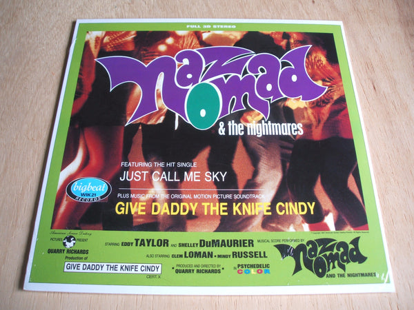 naz nomad & the nightmares give daddy the knife cindy vinyl lp reissue [damned]